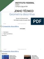 AULA 2 Desenho Tecnico Geometria Descritiva