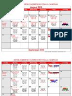 2019 Football Calendar