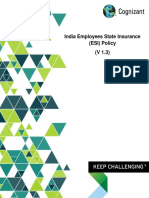 CTS Employee State Insurance (ESI) Policy