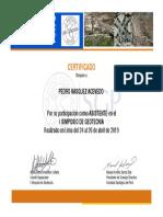 Certificado de Simposio de Geotecnia