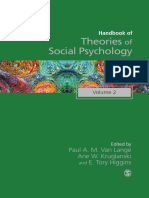 Handbook of Theories of Social Psychology Volume Two