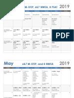 2018 19 mstep psat nwea testing calendar  1