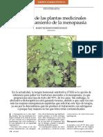 El Papel de Las Plantas en El Tratamiento de La Menopausia