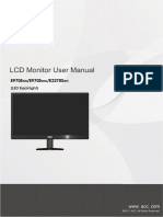 Manual Monitor AOC E970Sw