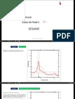 Criterios SESAME  para obtención de FTE.  Método razón espectral Nakamura H/V