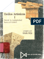 Historia de Los Estilos Artísticos. Desde La Antigüedad Hasta El Gótico - Hatje
