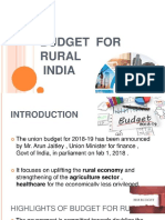 6e5f3e2735d6c4d6bb3c60597925aa71 Budget Proposal for Rural India