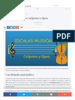 Socialmusik Es Escalas Musicales Origenes Tipos
