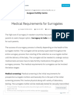 Medical Requirements for Surrogates
