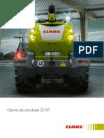 Gama Produse Claas 2018