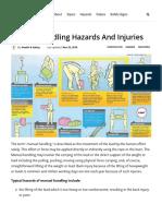 Manual Handling Hazards and Injuries