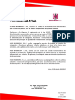SG PT 004 Política Salarial