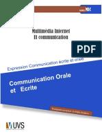 Expression Communication Écrite Et Orale