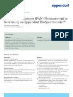 Protocol 009 - Free Amino Nitrogen (FAN) Measurement in Beer Using an Eppendorf BioSpectrometer