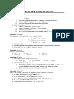 MATEMÁTICA I - Modelos de parciales - 2° Parcial