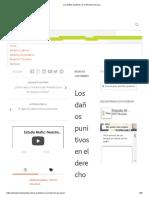 Los Daños Punitivos en El Derecho Peruano
