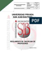 Reglamento de Disciplina Profesores v2.2 Rr n 031 2018 r Upsjb