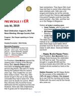 Moraga Rotary Newsletter July 30 2019