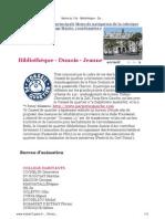Mairie du 13e - Bibliothèque - Dunois - Jeanne d'Arc