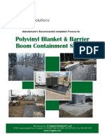 Polyvinyl Blanket Barrier Boom Installation Guide 2013