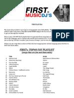 First Music Playlist 2016
