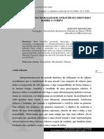 A CONSTRUÇÃO DA MORALIDADE ATRAVÉS DO DISCURSO SOBRE O CORPO