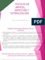 Protocolos de Limpieza, Desinfección y Esterilización