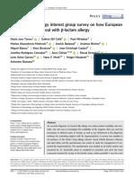 A EAACI Drug Allergy Interest Group Survey on How European Allergy Specialists Deal With β‐Lactam Allergy