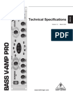 Behringer v-AMP Pro Specs 163587