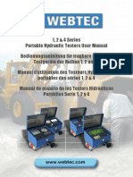 Webtec Hydraulic Tester Manual