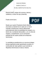 Gonzalo Castillo renuncia a Obras Públicas y formaliza aspiraciones presidenciales