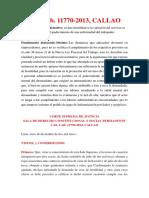 Casación Laboral N° 11770-2013, CALLAO