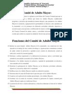 Funciones Del Comite Adulto Mayor
