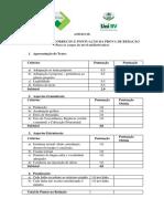 Anexo IX - Critérios para Correção e Pontuação na Prova de Redação