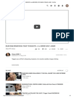 Rimuovo i Tuoi Pensieri, In Un Modo Strano! Asmr - Youtube