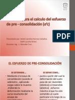 Metodos Para El Calculo Del Esfuerzo de Pre-consolidacion