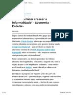 'O IVA Vai Fazer Crescer a Informalidade' - Economia - Estadão