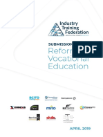 ITF Reform of Vocational Education submission - April 2019