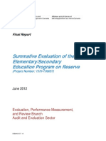 AANDC Summative Evaluation Ele-Sec June 2012