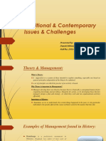Traditional & Contemporary Issues & Challenges