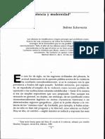 Violencia y Modernidad Bolivar Echeverria
