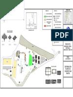 Distribución de patio de concreto