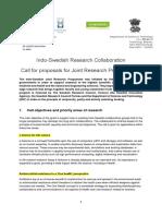 Indo Swedish Research Collaboration 2015 2