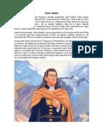 Tupac Amaru y Simon Bolivar