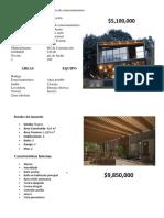 Estudio de Mercado 5 Casas