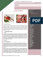 'Bioquimica de la carne'_ CAMBIOS BIOQUIMICOS DE LA CARNE