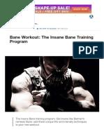 Bane Workout_ the Insane Bane Training Program