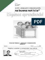 Fichas Lenguaje (Noticia, Adjetivos Calificativos, Sinónimos y Antónimos , Familia de Palabras)
