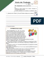 1Basico - Guia Trabajo Lenguaje y Comunicacion - Semana 02