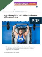 Injury Prevention 101_ 3 Ways to Prevent a Shoulder Injury